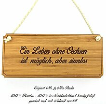 Mr. & Mrs. Panda Türschild Stadt Oechsen Classic Schild - Gravur,Graviert Türschild,Tür Schild,Schild, Fan, Fanartikel, Souvenir, Andenken, Fanclub, Stadt, Mitbringsel
