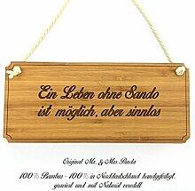 Mr. & Mrs. Panda Türschild Stadt Sando Classic Schild - Gravur,Graviert Türschild,Tür Schild,Schild, Fan, Fanartikel, Souvenir, Andenken, Fanclub, Stadt, Mitbringsel