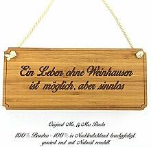 Mr. & Mrs. Panda Türschild Stadt Weinhausen Classic Schild - Gravur,Graviert Türschild,Tür Schild,Schild, Fan, Fanartikel, Souvenir, Andenken, Fanclub, Stadt, Mitbringsel