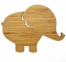 Mr. & Mrs. Panda Wanddeko Elefant - 100% handmade aus Bambus - Elefant, Savanne, Dickhäuter, Elefantenkuh, Afrika, Erdnüsse Wanddeko Deko Dekoration Wanddekoration Wandschmuck Elefant, Savanne, Dickhäuter, Elefantenkuh, Afrika, Erdnüsse