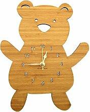 Mr. & Mrs. Panda Wanduhr Teddybär - 100% handmade in Norddeutschland - Teddybär, Teddy, Bär, Knuddelbär Wanduhr, Uhr, Kinderuhr, Kinderzimmer, Wanddeko, Deko, Geschenk, Clock, modern, Schenken, Zeit, Einrichten, Uhrwerk, Wohnzimmer, Holz