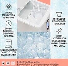 Mr. Silver-Frost Eismaschine 150W Edelstahl weiß