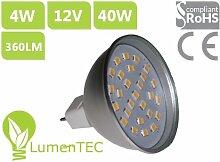 MR16 27 SMD LED Lampe Leuchte Strahler MR16 4W 27 NEU (2835) LEDs 12V Kaltweiss 360 Lumen, LumenTEC