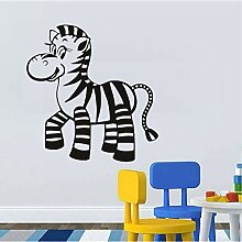 Mrhxly Baby Zebra Vinyl Wandaufkleber Tiere