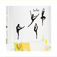 Mrhxly Ballett Tanzen Frauen Vinyl Wandaufkleber