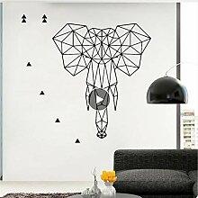 Mrhxly Empfindliche Geometrie Elefanten Aufkleber