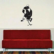 Mrhxly Hockey Player Aufkleber Aufkleber Wand