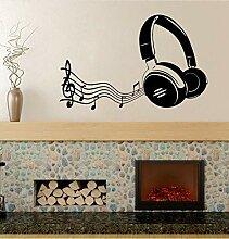 Mrhxly Musik Kopfhörer Wandkunst Aufkleber Für