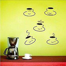 Mrhxly Schwarz Diy 5 Kaffeetassen Küche