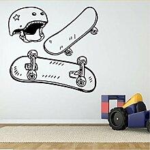Mrhxly Skate Board Helm Poster Wandaufkleber Für