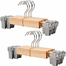 MRKE Kleiderbügel Holz, 10 Stücke Holz