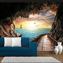 Mrlwy Fototapete Schöne Sonnenuntergang Höhle