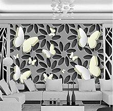 MRQXDP 3D Stereoscopic Butterfly Floral Wandbild