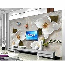 MRQXDP Wandtapete mit europäischen Retro-Blumen,