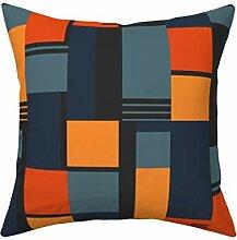 MrRui Bauhaus inspirierter Kissenbezug 45,7 x 45,7
