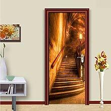 mrtcse PVC Selbstklebende Tür Aufkleber Goldene