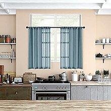 MRTREES Gardinen für die Küche, transparent,