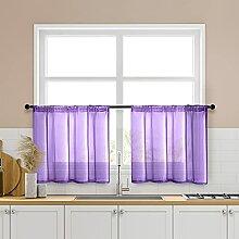 MRTREES Gardinen für Küche, transparent, 86,4 x