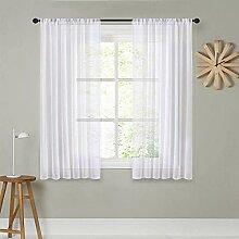MRTREES Gardinen für Wohnzimmer, transparent, 183