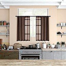 MRTREES Transparente Gardinen für Küche, 91,4 cm
