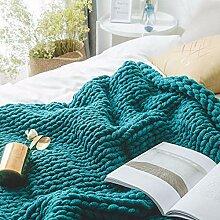 MRXUE Decke werfen warme handgewebte super Dicke