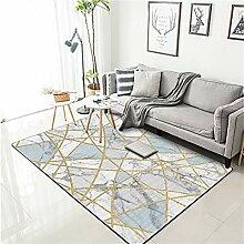 MRXUE Quadratischer Teppich, modischer nordischer