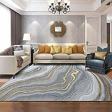 MRXUE Quadratischer Teppich, nordischer moderner