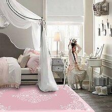 MRXUE Quadratischer Teppich, nordischer Stil,