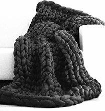 MRXUE Warme Decke geworfen Wolldecke