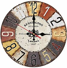 Mrzy Heiße Wanduhr hölzerne Uhren Quarz Rund Uhr