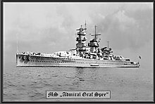 MS Admiral Graf Spee kriegschiff boot metal sign
