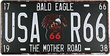 MS Route 66 Blechschild Metall Poster Nummernschild Home Bar Decor Metall schwarz cj574-d