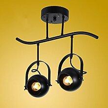 MSAJ-American vintage kleidung shop Strahler der kreativen Wohnzimmer Lampe bar led leuchten Kronleuchter Pers?nlichkeit pole, 2 Leiter