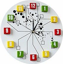 MSAJ Einfache Uhr/Stereo-Digital-Wanduhr für zu