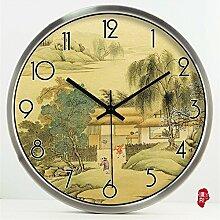 MSAJ Stille Uhr Wanduhr/Wohnzimmer kreative