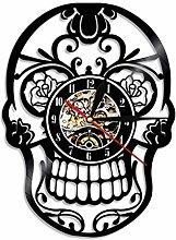 MSAMH 1 Piece Mexikanische Schädel Vinyl Wanduhr