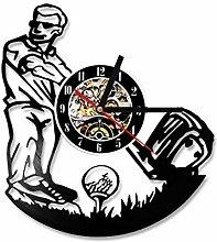 MSAMH CD Rekord Uhr Spielen Golf Form Vinyl
