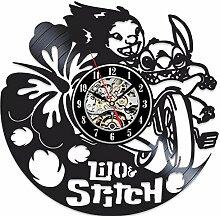 MSAMH Lilo & Stitch Wanduhr Modernes Design