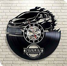 MSAMH Vinyl Wanduhr Vintage Rekorduhr