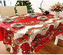 Msbvf Weihnachten Tischdecke Retro Tischdecke
