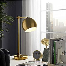 Msoteey Gold Industrietische Tischlampe Messing