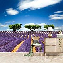 Msrahves Wanddekoration Lila Pflanzen Lavendel
