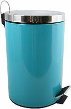 MSV 100214Treteimer Mülleimer Kosmetikeimer Abfalleimer 12L - 12 Liter - Blau