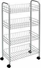MSV 110278 Küchenregal mit Rollen und 4