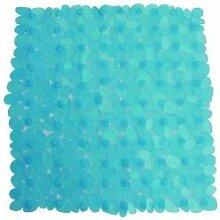 MSV 140178Galet Badteppich Acryl + Latex blau