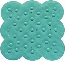MSV 140198Duscheinlage Gummi/Edelstahl blau