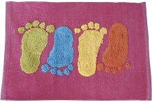 MSV 140501Teppich, Baumwolle, Motiv: Fuß, 80x