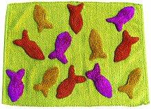 MSV 140507Teppich, Baumwolle, Motiv Fisch, 70x