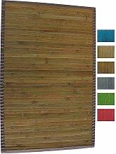 MSV 140523 Badematte Badvorleger Bambus 50x80