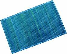 MSV 140530 Badematte Badvorleger Bambus 60x90 Blau